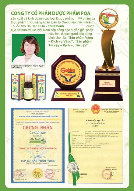 giải thưởng PQA